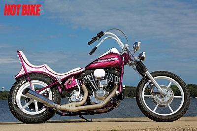 Long Running Rigid Custom 1976 Harley Davidson Fl