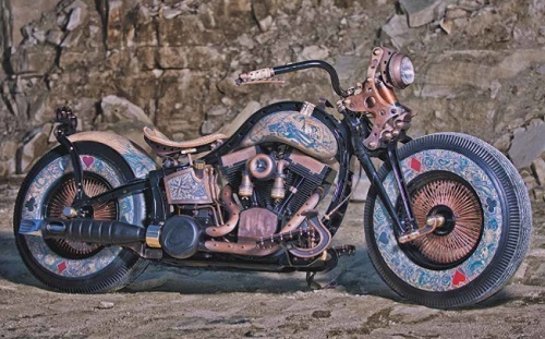The World's First Tattooed Motorcycle Comes to Sturgis