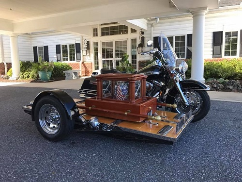 Harley Hearse Lets You Take Your Final Ride in Style