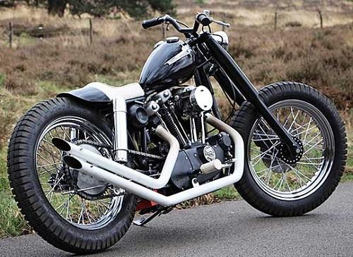 Cute Naked Black Sportster Ironhead   I Love Harley Davidson Bikes